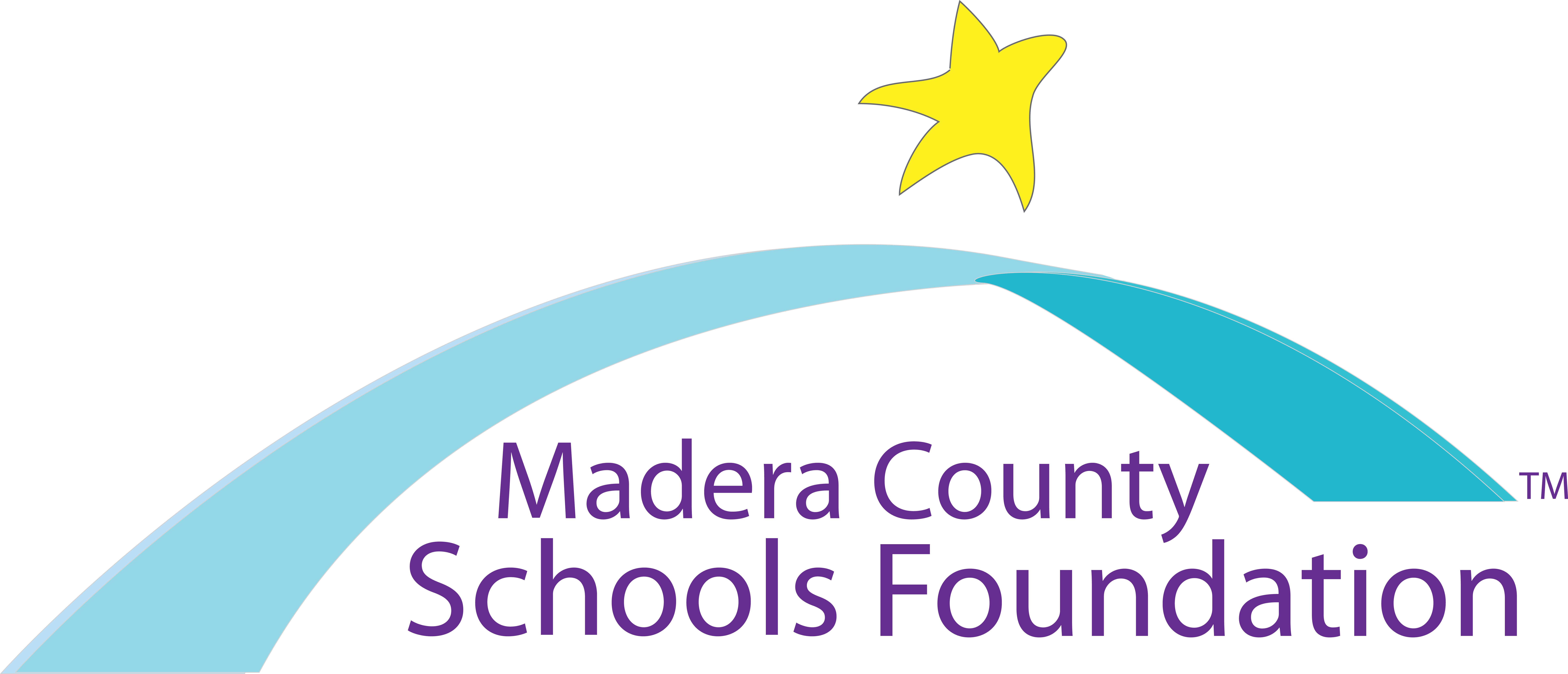 A star above an arch with the words Madera County Schools Foundation Logo underneath.