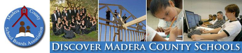 "MCSBA graphic with student pictures and heading that reads, ""Discover Madera County Schools"""