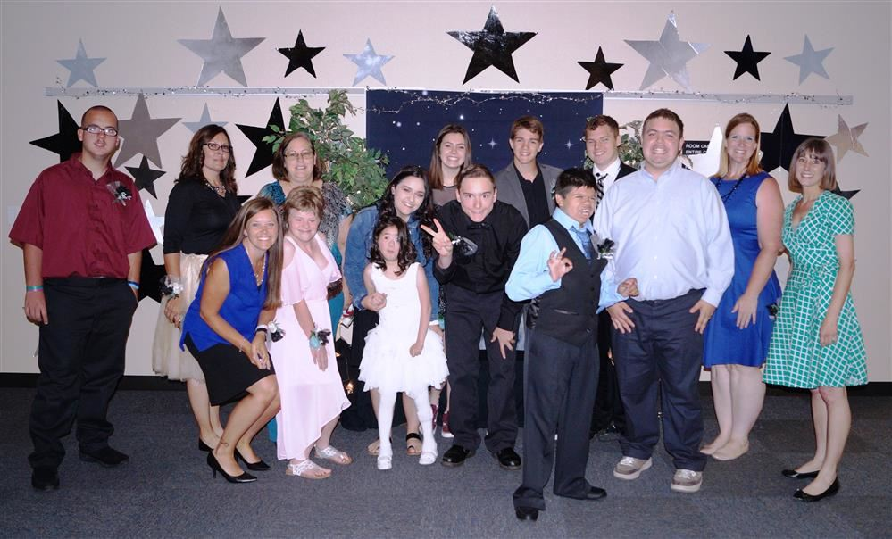 Class picture at Sp. Ed. Prom