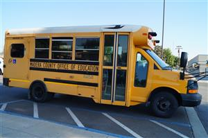 Yellow School Bus with Madera County Office of Education on the side